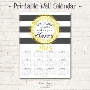 8x8 2015 Printable Calendar