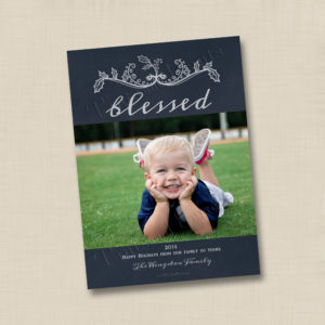 8x8 Blessed Holiday 1- front