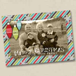 8x8 Christmas Stripes 1
