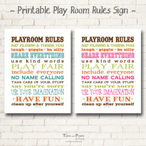 8x8 Display Playroom Rules copy