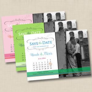 8X8 Romantic Calendar Save the Date 1,2,3