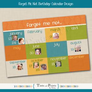 8x8 Birthday Calendar 1