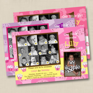 8x8 Collage Girl Birthday 1,2,3