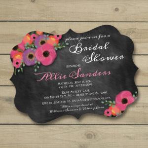 8x8 E1 Chalkboard Posies Wedding 1