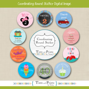 8x8 Etsy Display - Round Stickers 2