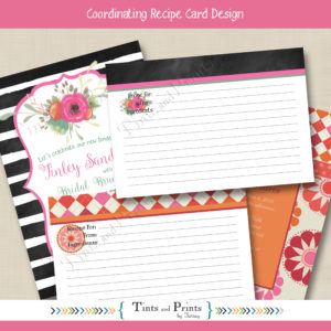 8x8 Etsy Display -recipe cards