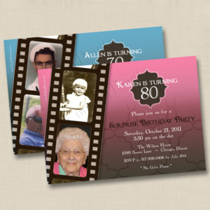 8x8 Filmstrip Birthday 1&2