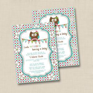 8x8 Girlie Owl Whoo's Baby 1&2