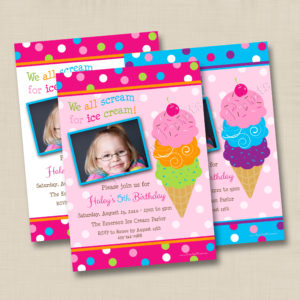8x8 Ice Cream Cone Birthday 1, 3