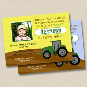 8x8 Little Tractor Birthday 1&2