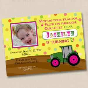 8x8 Little Tractor Birthday 3