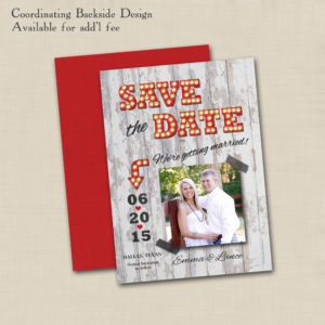 8x8 Marquee Save the Date 1 back