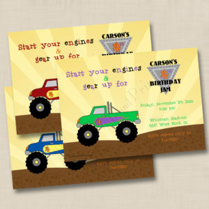 8x8 Monster Truck Birthday 1,2,3