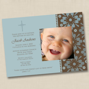 8x8 Perfect Gift Boy Baptism 1