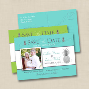8x8 Pineapple Save the Date 1,2