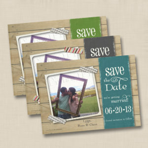 8x8 Rustic Instagram Save the Date 1,2,3