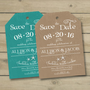 8x8 Save the Date Luggage Tag 1&2