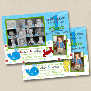 8x8 Splish Splash Collage Birthday 1&2