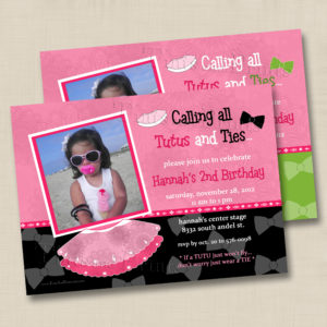 8x8 Tutus & Ties Birthday 1,2