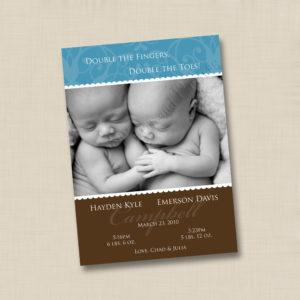 8x8 Twin Boys - Baby 1