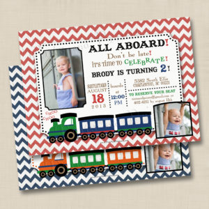 8x8 Vintage Train Bday 1,2