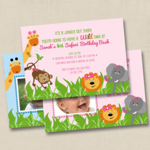 8x8 Zoo Animals Birthday 1