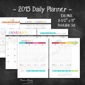 T&P Printables Planner 2015 -cover