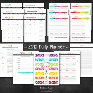 T&P Printables Planner 2015 -pg2