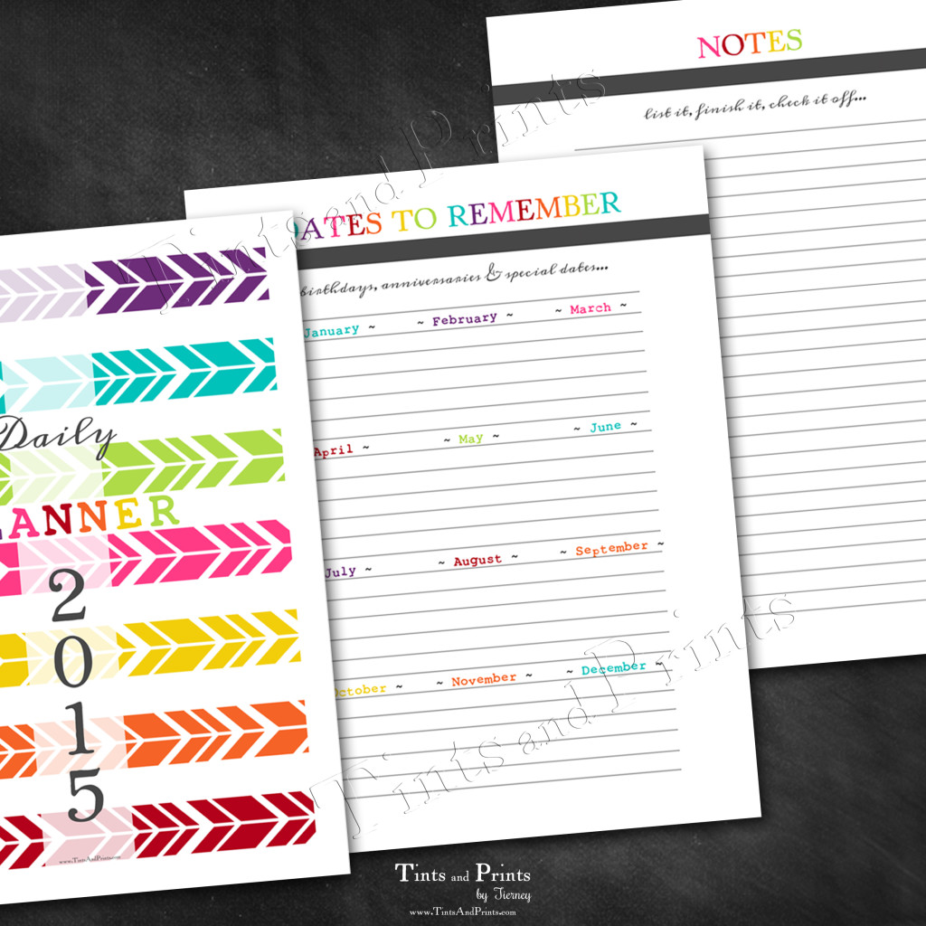 T&P Printables Planner 2015 -pg4
