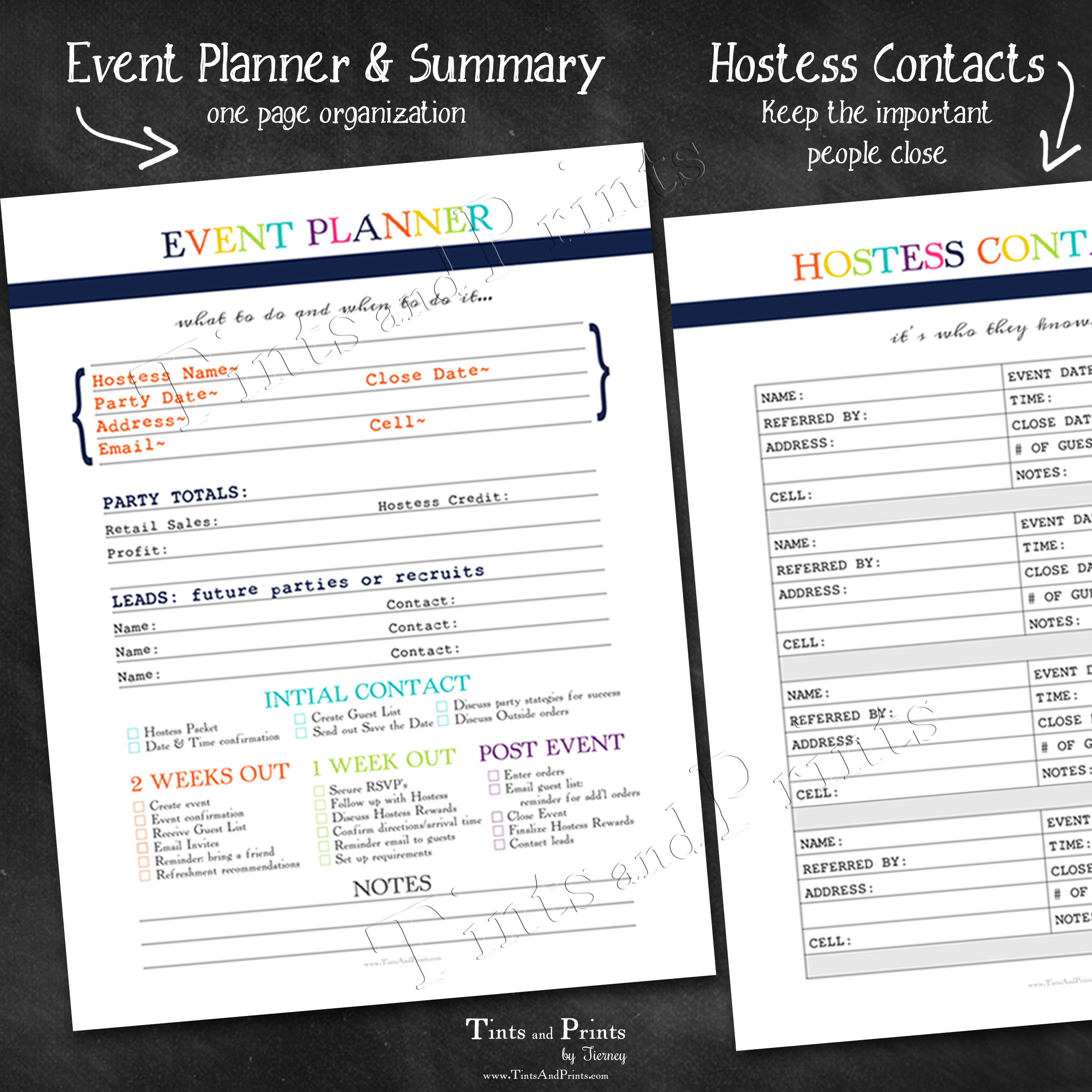 photo about Free Printable Direct Sales Planner named Lead Revenue Printable Planner
