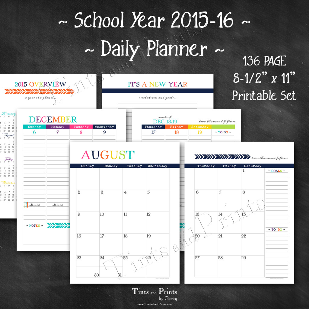 8x8 Etsy T&P Printables Planner 2015 -cover