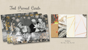 New Foil Pressed Cards for the Holidays