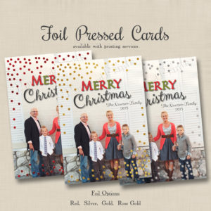 8x8 Foil Dots Full Photo Xmas 1